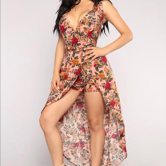 bada32bab66b Fashion Nova Dresses   Skirts - Romper Maxi Floral Dress